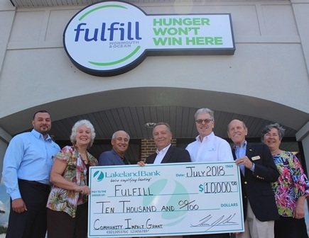 $10,000 Check Presentation to Fulfill
