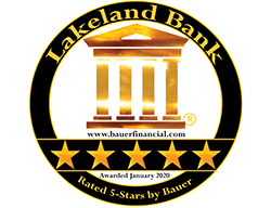 Lakeland Banki Rated 5-Stars by Bauer